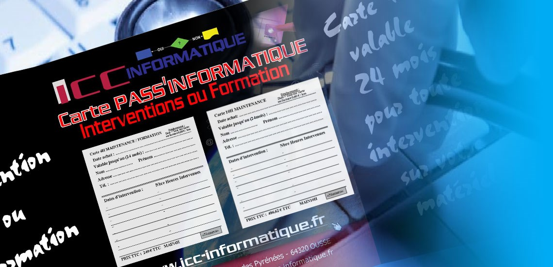 Formation informatique, Maintenance informatique, Initiation informatique, Dépannage informatique | Pau (64)